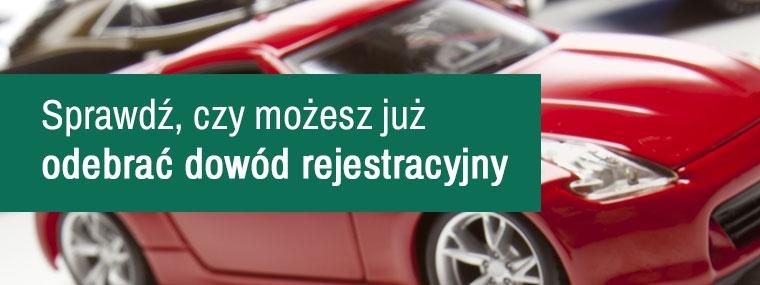 Baner rejestracji pojazdu